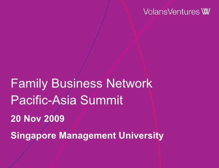 Volans Presentation at Family Business Network Pacific Asia Summit