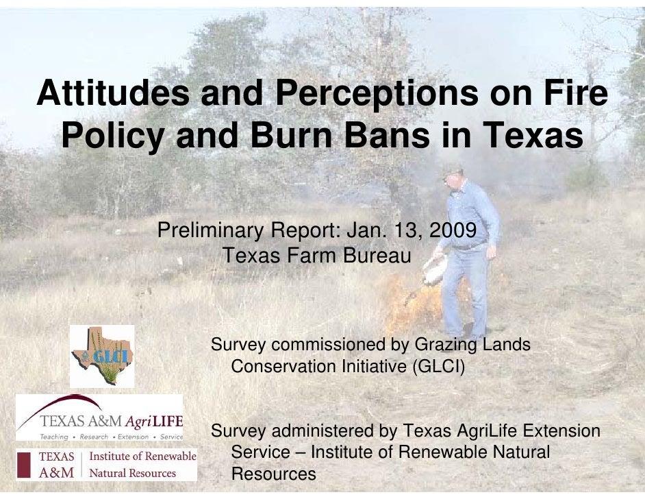 Burn Ban and Prescribed Burns - Farm Bureau Update Jan. 18, 2010