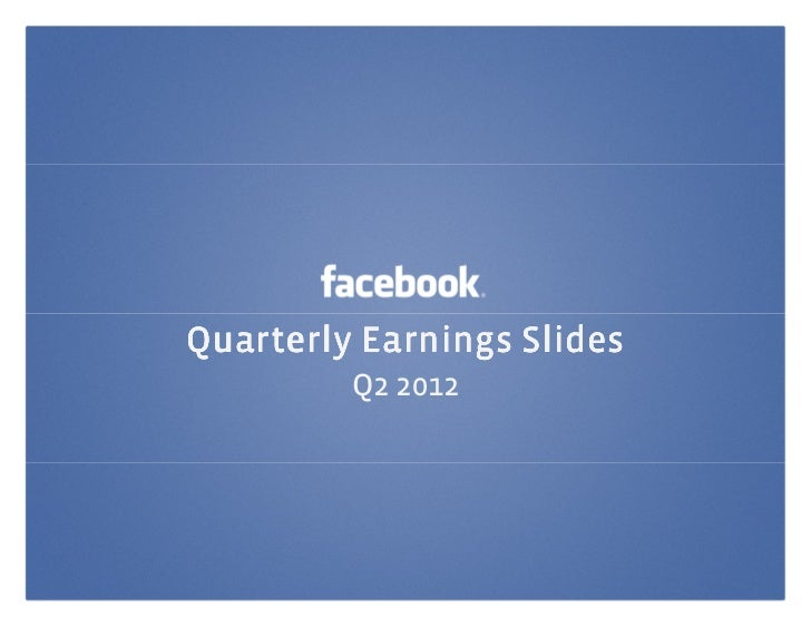 Quarterly Earnings Slides         Q2 2012