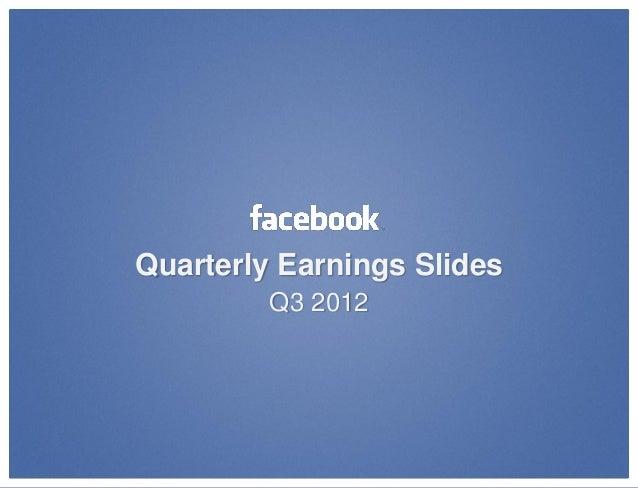 Quarterly Earnings Slides         Q3 2012