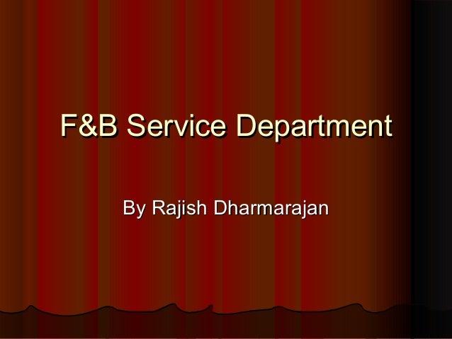 F&b service