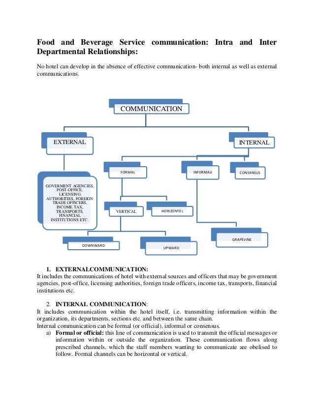 inter department relationship Relationship between front office and other departmentshousekeeping department housekeeping and the front office communicate with each othe inter departmental coorporation search search.