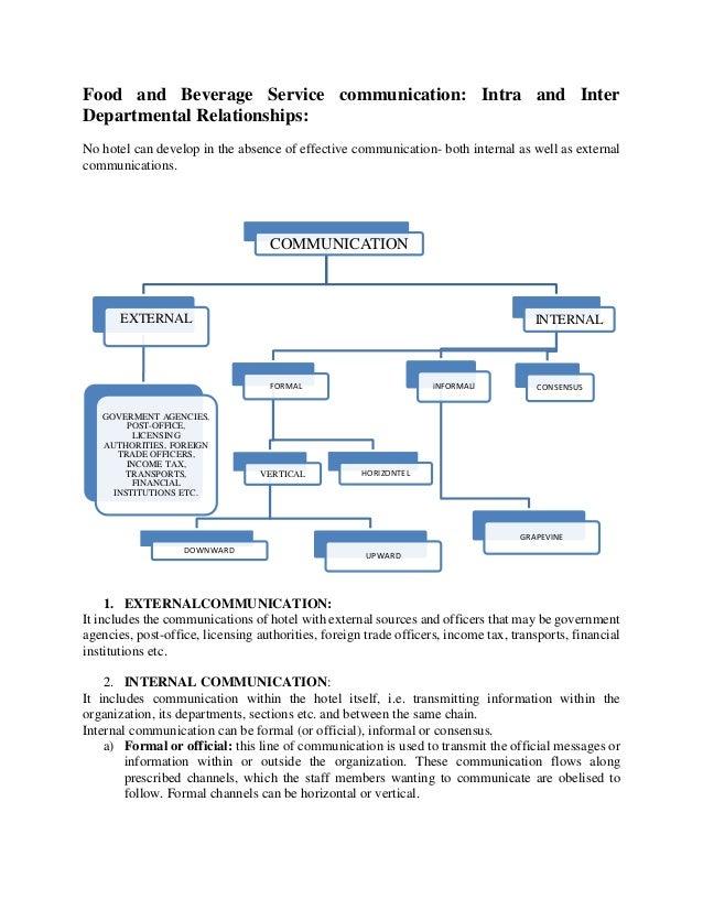 F & b service coordination