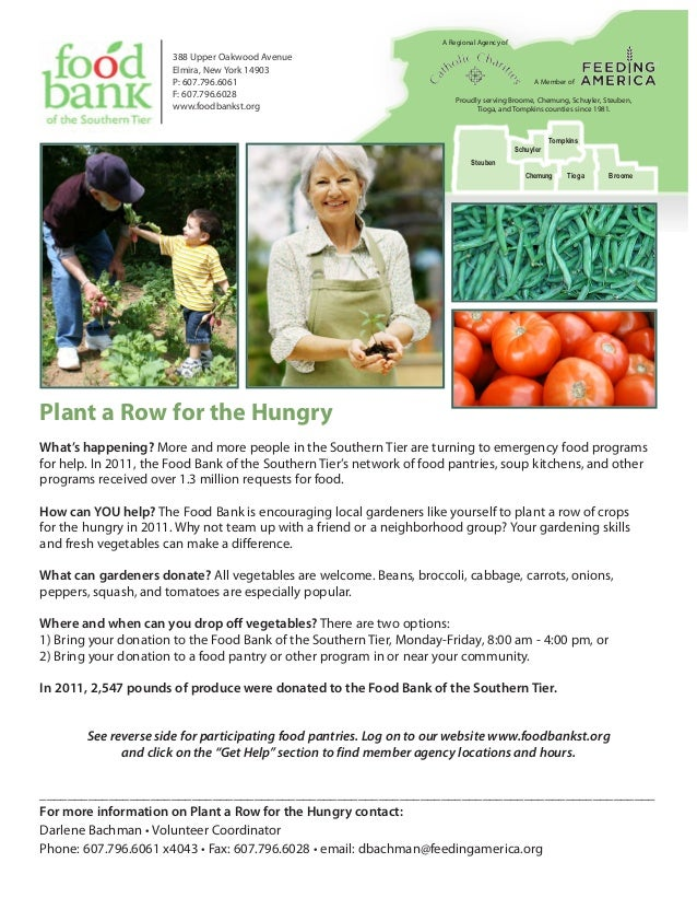 Plant a Row for the Hungry - Food Bank of Southern Tier, New York