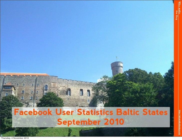 Facebook Stats Baltic States September 2010
