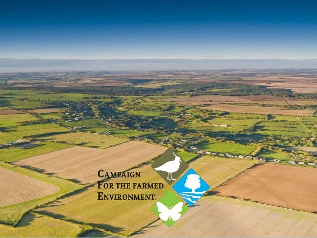 Set-aside mitigation – no longer a threat CAP greening – sensible choices Why do we need CFE now? Environmental challenges...