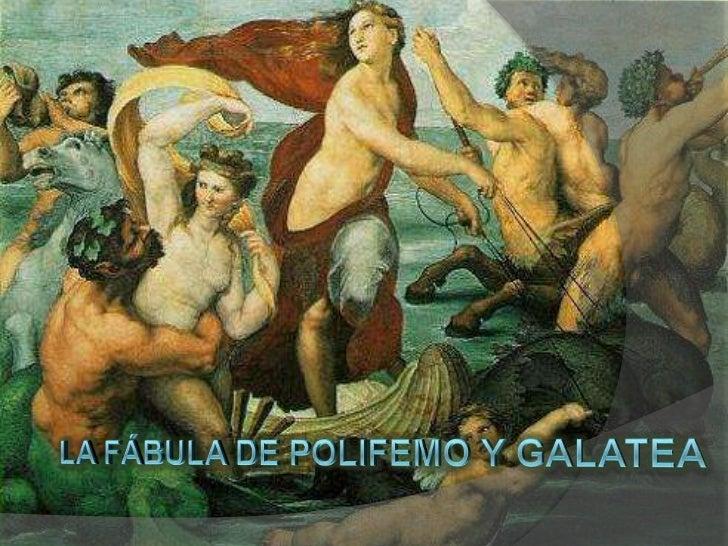 La fábula de polifemo y galatea<br />