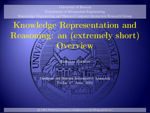 Cerutti--Knowledge Representation and Reasoning (postgrad seminar @ University of Brescia)