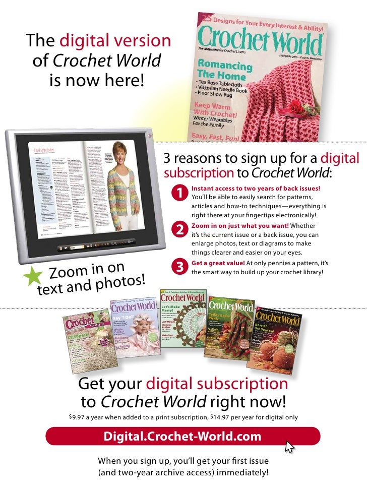 The digital version  of Crochet World    is now here!                                                                     ...
