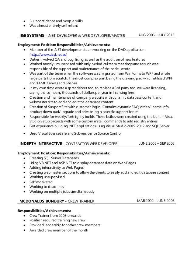Resume - Gary Trafford