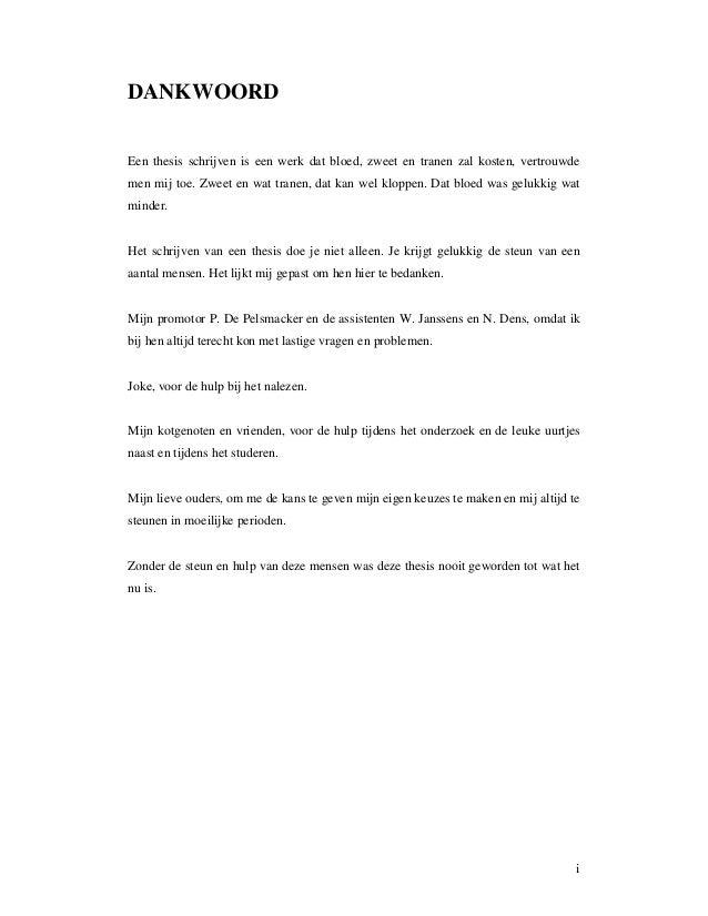 hulp bij schrijven van thesis