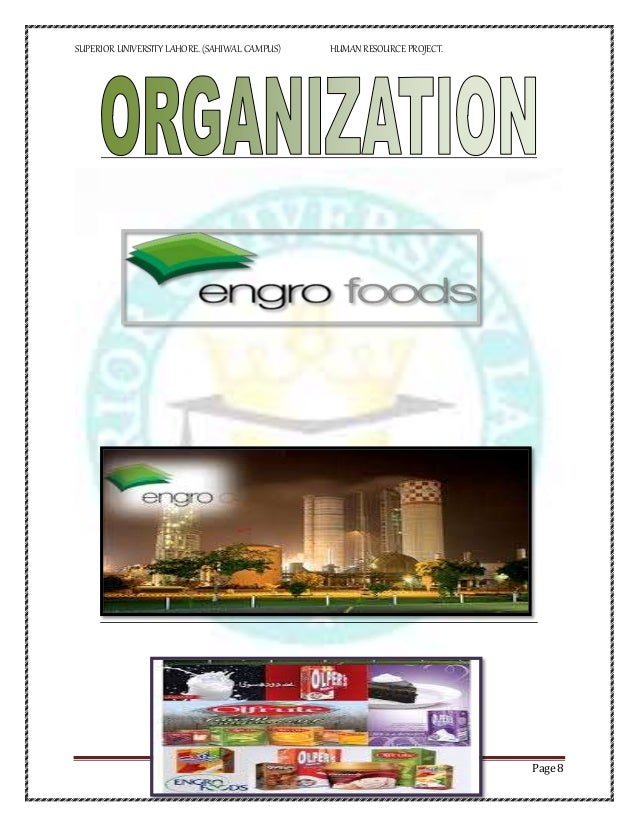 engro foods main project report Report on factors causing dissatisfaction in employees  please download to view.