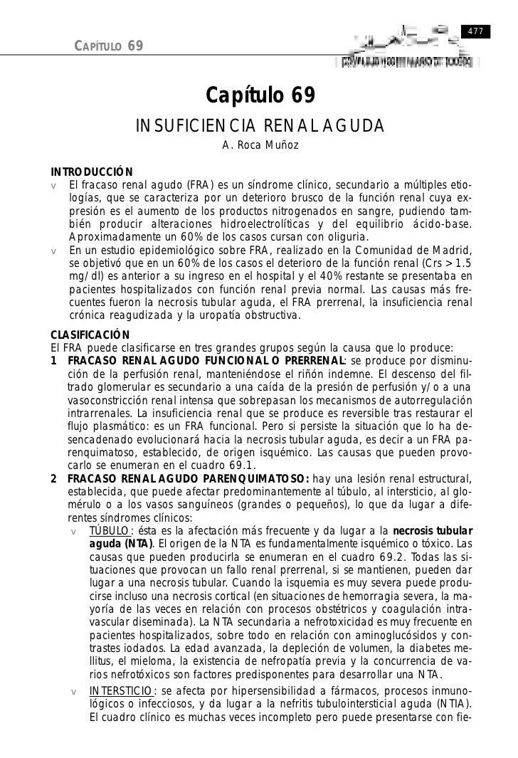 477     CAPÍTULO 69                                   Capítulo 69                  INSUFICIENCIA RENAL AGUDA              ...