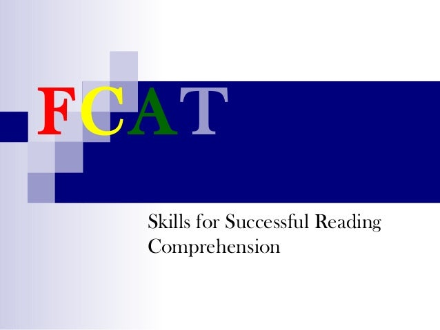 FCAT Skills for Successful Reading Comprehension