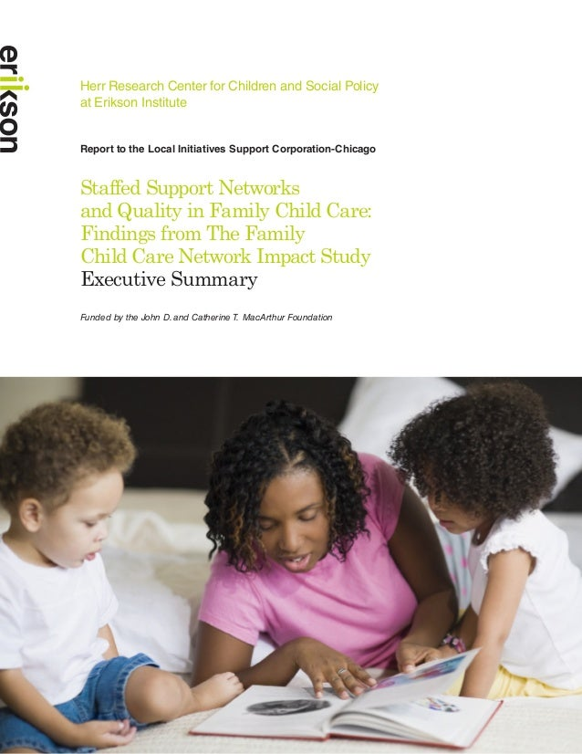 Herr Research Center for Children and Social Policyat Erikson InstituteReport to the Local Initiatives Support Corporation...