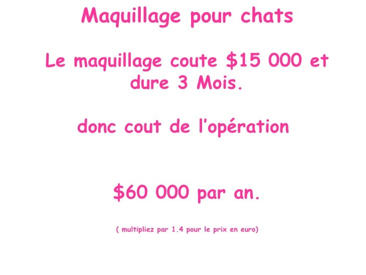 Maquillage pour chats