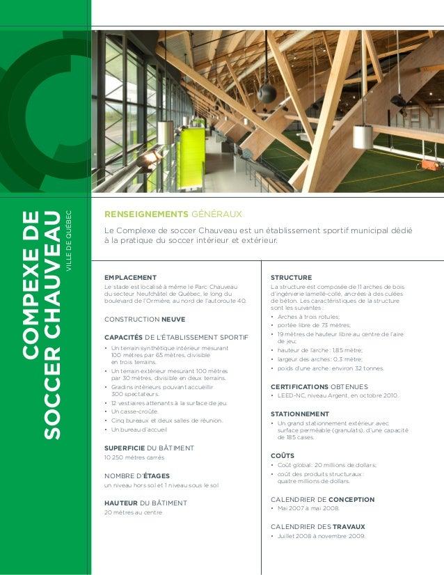 COMPEXEDE SOCCERCHAUVEAU VilledeQuébec Emplacement Le stade est localisé à même le Parc Chauveau du secteur Neufchâtel de ...
