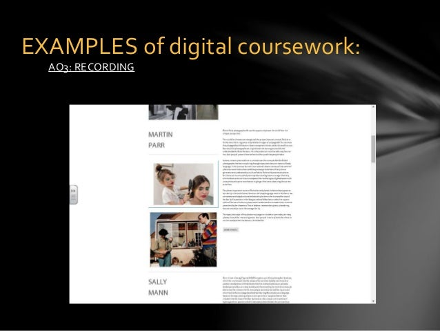 Photography coursework ideas?