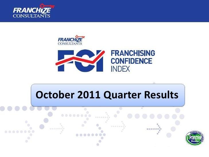 New Zealand Franchising Confidence Index   October 2011