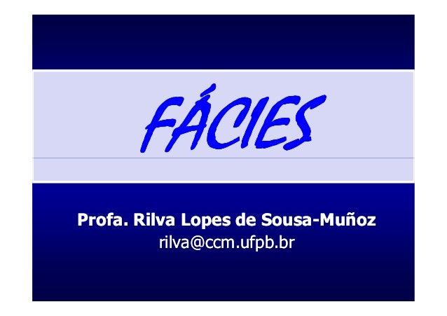 FÁCIESProfa. Rilva Lopes de Sousa-Muñoz                       Sousa-          rilva@ccm.ufpb.br