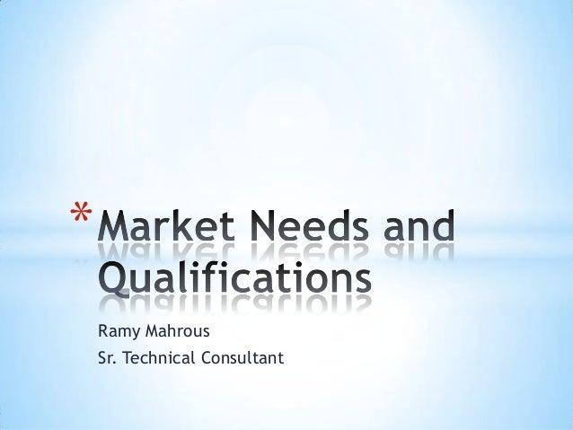* Ramy Mahrous Sr. Technical Consultant