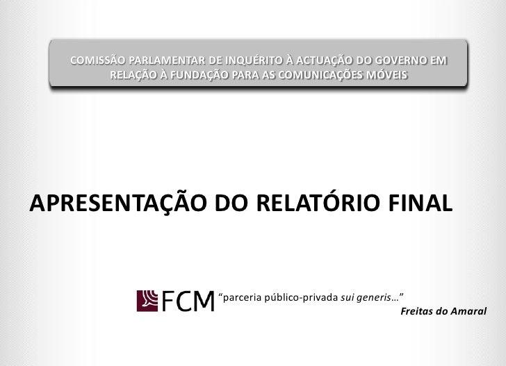 Fcm apresentação de relatório em plenário
