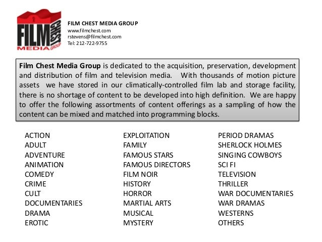 Film Chest Media Group Feature Film Offerings