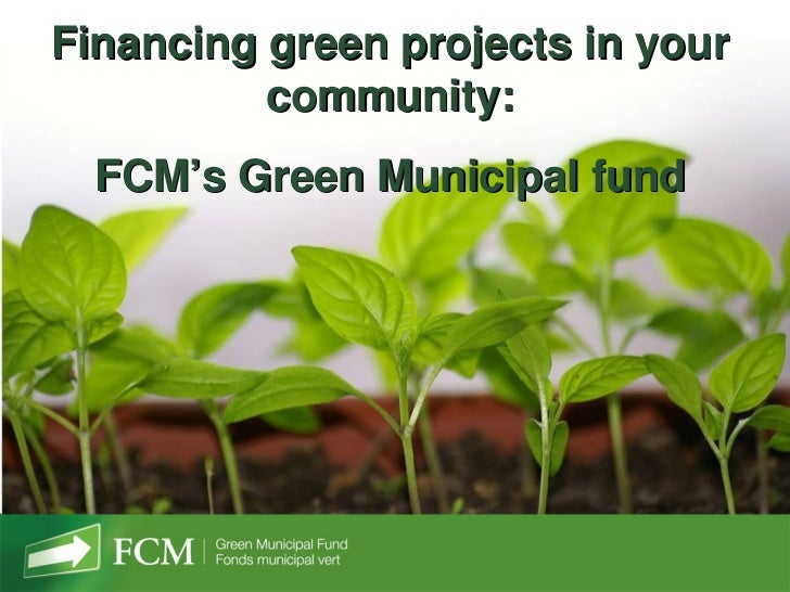 Financing green projects in your          community:  FCM's Green Municipal fund