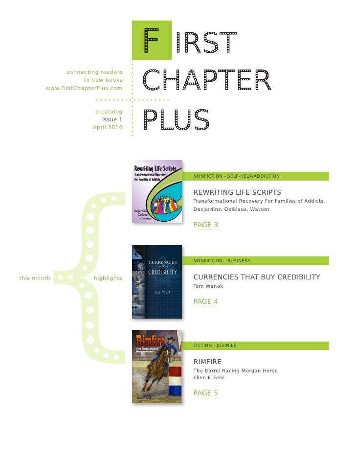 connecting readers                     to new books         www.FirstChapterPlus.com                           e-catalog  ...