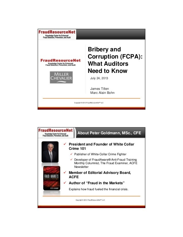 Bribery and Corruption (FCPA): What Auditors Need to Know