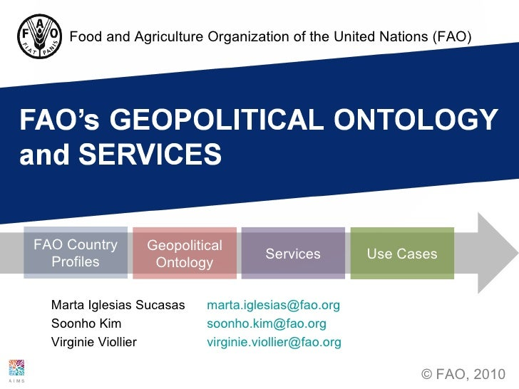 FAO's  Geopolitical Ontology and Services