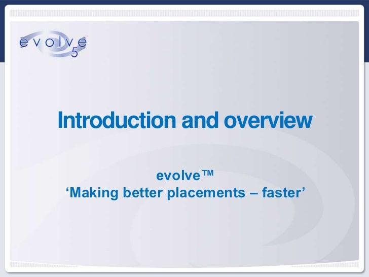 evolve software presentation