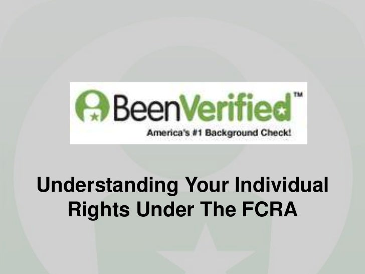 Understanding Your Individual  Rights Under The FCRA