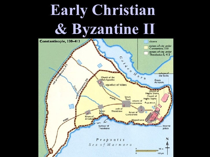 Map of Constantinople Early Christian  & Byzantine II