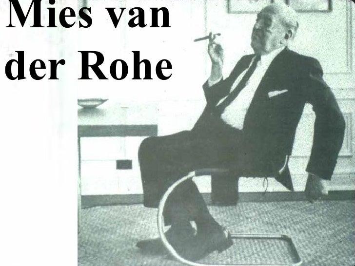 FCSarch 38 Mies van der Rohe