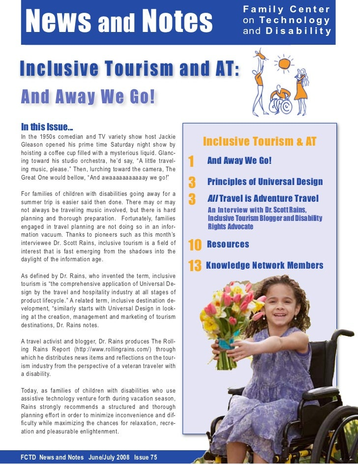 Inclusive Travel and AT: All Travel is Adventure Travel witha Disability!