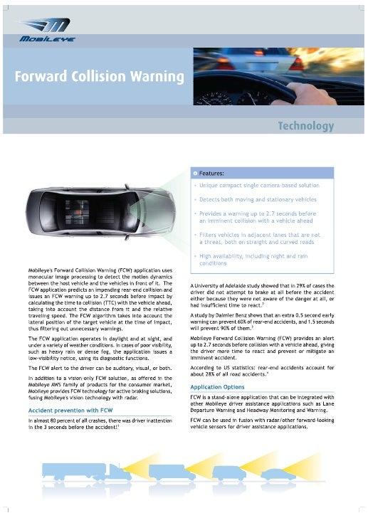 Forward Collision Warning - Technology