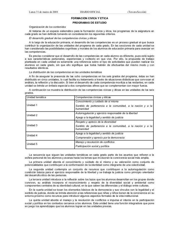 Formacion civica y etica