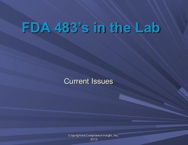 Fda 483