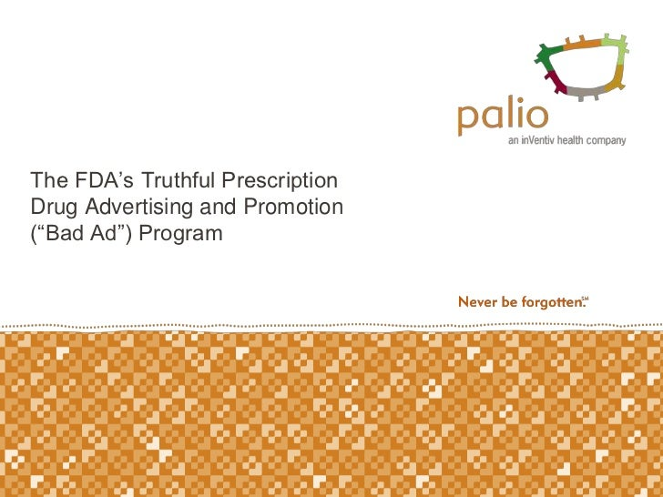 FDA Bad Ad Program Overview