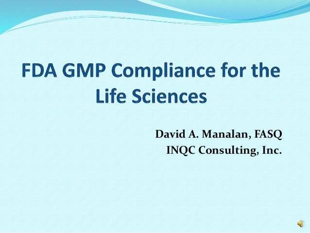 David A. Manalan, FASQ INQC Consulting, Inc.