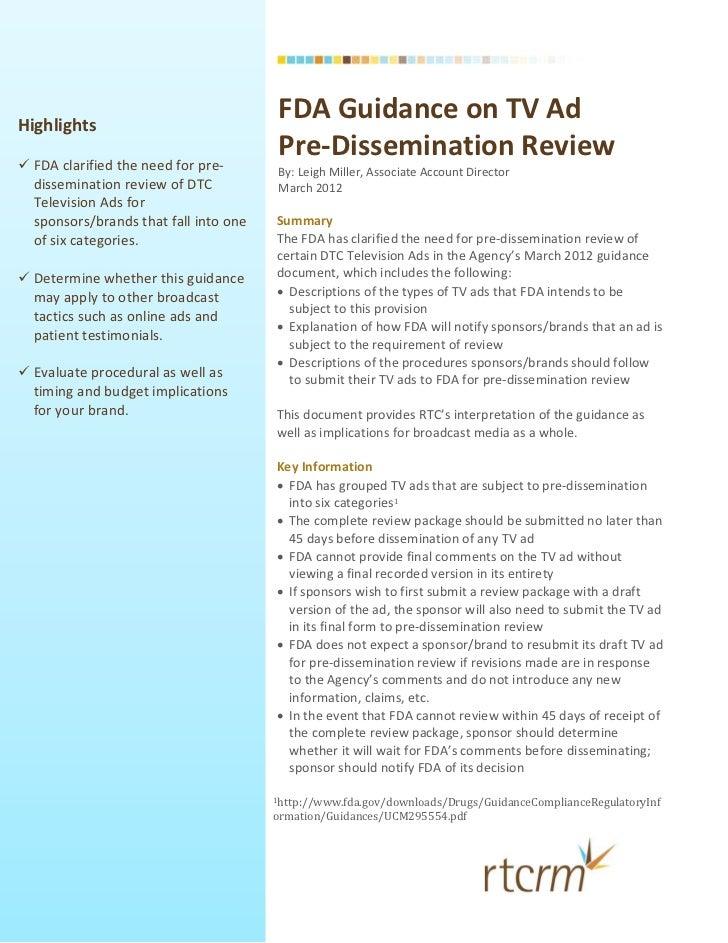 Highlights                                        FDAGuidanceonT...