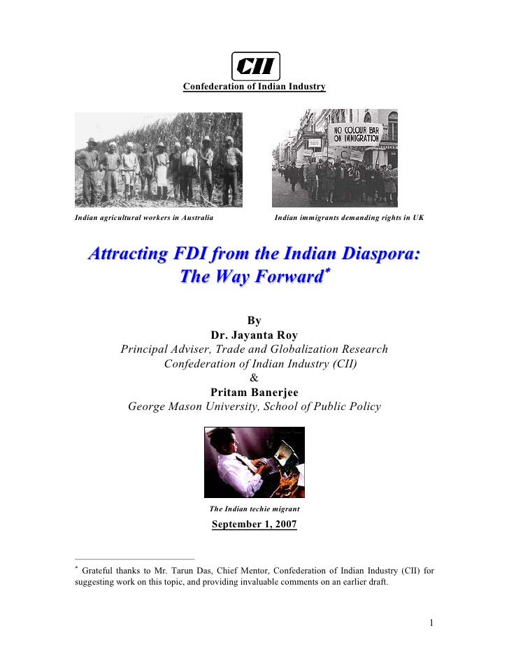 FDI policy from indian diaspora
