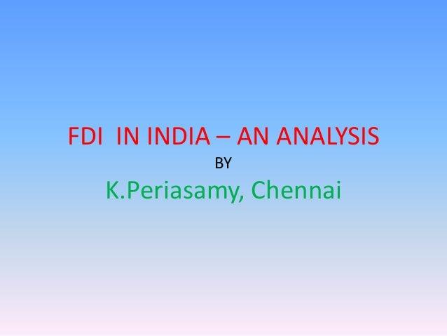 FDI in India - An Analysis
