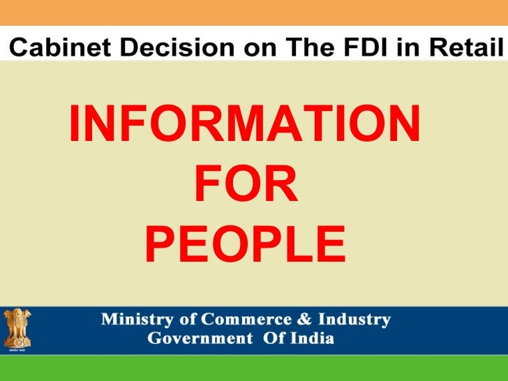 FDI in Retail - Information For People