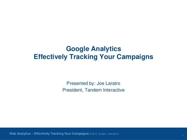 FDMA: Google Analytics