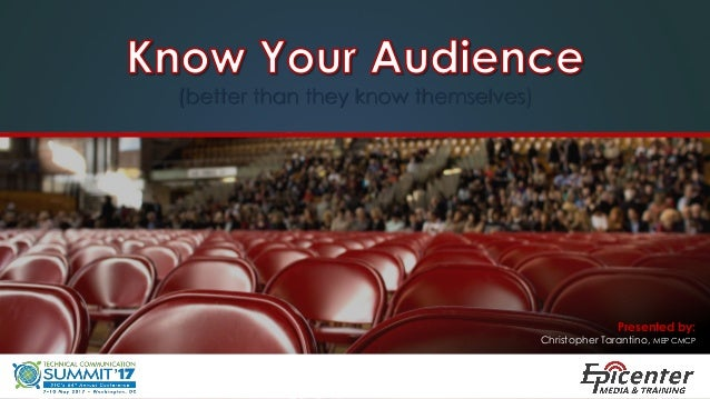 Communication skills: persuasion, audience analysis