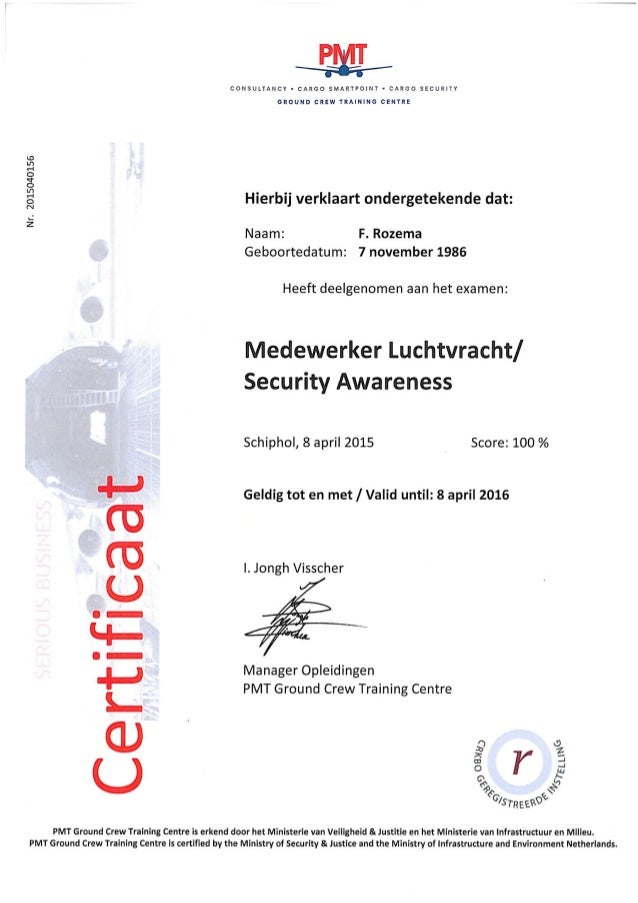 Security Awareness Security Awareness Certificate