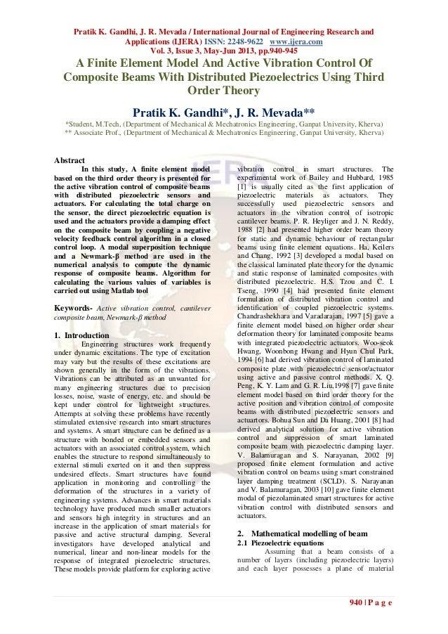 Pratik K. Gandhi, J. R. Mevada / International Journal of Engineering Research andApplications (IJERA) ISSN: 2248-9622 www...