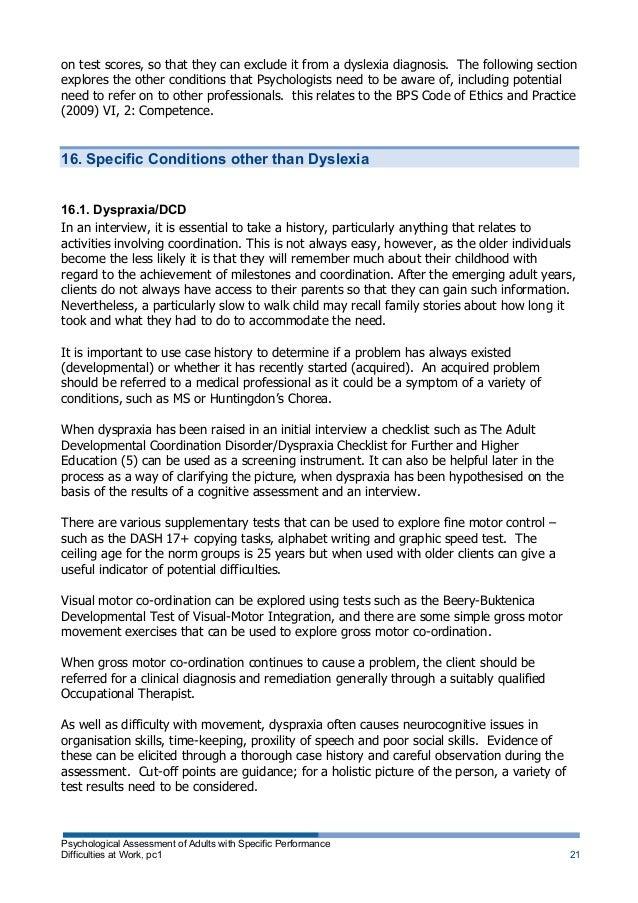 essay questions on dyslexia